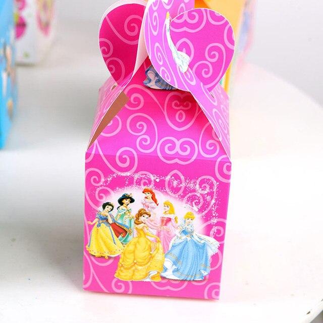 12pcs Snow Princess Candy Box Paper Gift Bag Cartoon Theme Kids Birthday Party Supplies Decoration