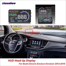 Liandlee Car HUD Head Up Display For Buick Encore Enclave Envision 2012-2018 Safe Driving Screen OBD Projector Windshield