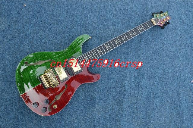Custom Shop Milt Color Flamed Finish PRS Santana Electric Guitar 25th Anniversary Rainforest Guitarra Prs