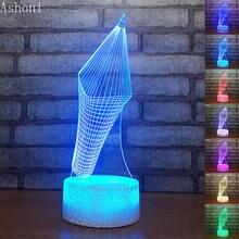 Форма карандаша 3d ночные светильники креативные игрушки лампы