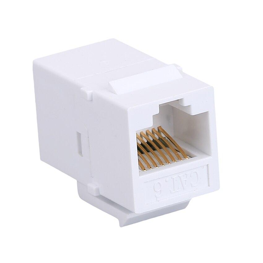 10 шт. CAT6 Ethernet-кабель Extender end-to-end адаптер 8P8C RJ45 адаптер сети через расширение CAT6 модуль для пустой Панель