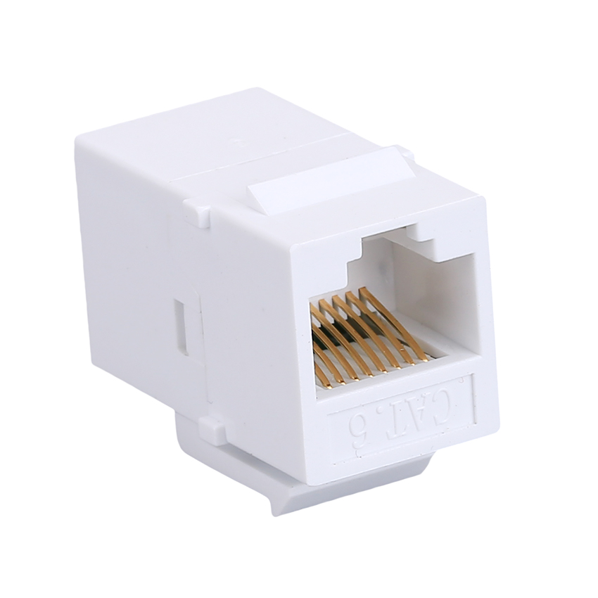 10pcs CAT6 Ethernet Cable Extender end-to-end Adapter 8P8C RJ45 Adapter Network through Extension CAT6 Module for Empty Panel