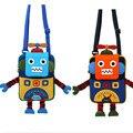 Bonito dos desenhos animados mochila para crianças saco de cartão pequeno jardim de infância de brinquedo robô em forma de sacos de ombro bolsa