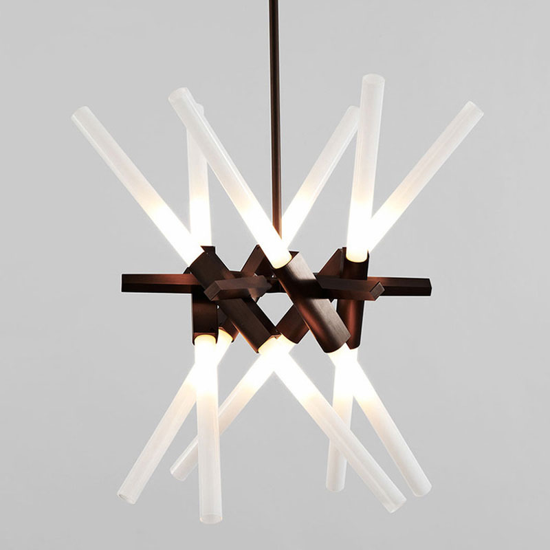 ZX Nordic Style LED Crystal Pendant Lamp Modern Creative Bar Lamp Reception Desk For Shop Hotel Office Engineering Lighting
