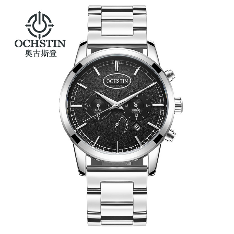 2017 Luxury Brand OCHSTIN Men Sport Watches Men's Quartz Clock Man Army Military Stainless Steel Wrist Watch Relogio Masculino xinge top brand luxury leather strap military watches male sport clock business 2017 quartz men fashion wrist watches xg1080