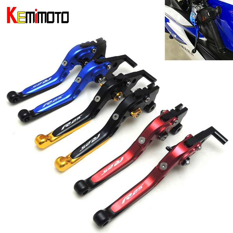 KEMiMOTO For YAMAHA YZF R25 R3 Moto Accessories Foldable Extendable Brake Clutch Levers YZF-R3 YZF-R25 2013-2016 MT03 MT25 2017 wwd women s wear daily 2012 11 26