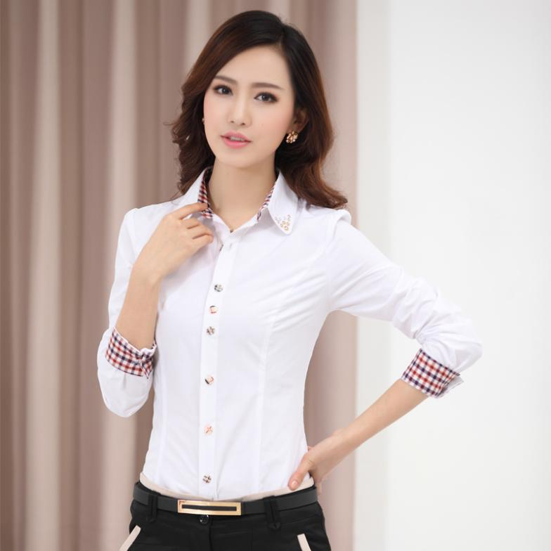 074a73eb029 2016 Blouses Shirts Women's Clothes TurnDown Collar female Shirt Long  Sleeve Lady Professional Formal Blouse Tops autumn 2015 4L-in Blouses &  Shirts from ...