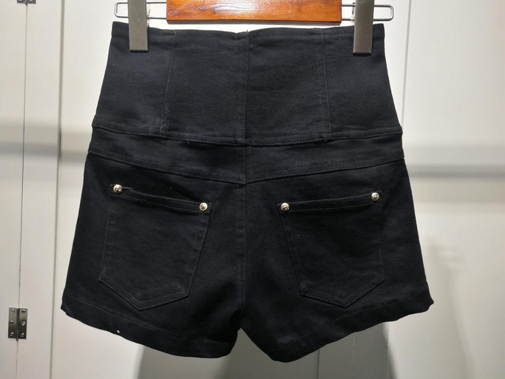 Nuevas Color Pantalones Denim Ddxgz3 2019 Mujeres Alta Verano Cortos De 2 Cintura 5CxnqZOBpw