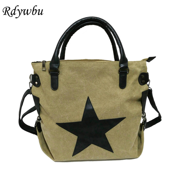 fe7dd1706978 Rdywbu BRAND BIG STAR VINTAGE CANVAS SHOULDER BAG -Casual Plus Size Travel  Shopping Messenger Crossbody
