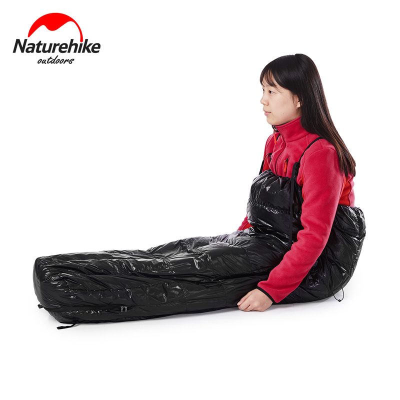 Naturehike Ultralight Half Chest Sleeping Bag Duck Down Lazy Camping Bags Nh17s018 D In From Sports Entertainment On