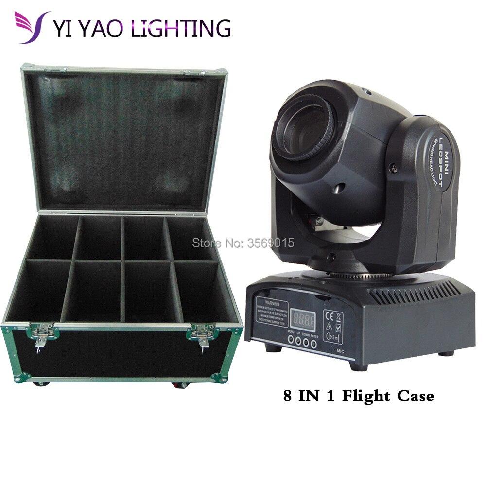 Flight Case 8pcs/lot 30W Mini Moving Head Gobo Spot Light 11 CH stage lights Dmx 512Flight Case 8pcs/lot 30W Mini Moving Head Gobo Spot Light 11 CH stage lights Dmx 512