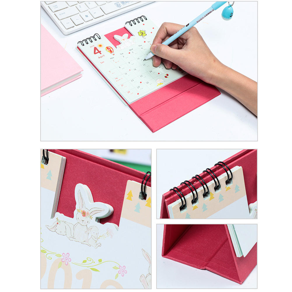 1 Piece 15cm 2019 Cute Animal Calendar Office Stationery Desk Notebook Promotion Gift Girls Birthday Gift Carefully Selected Materials Calendars, Planners & Cards