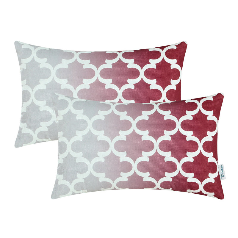 2pcs calitime cushion cover decorative pillows shell home sofa bedding gradient quatrefoil accent geo 12 - Decorative Pillows Cheap