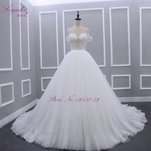 Liyuke Robe De Mariage Strapless A Line Princess Wedding Dress Strapless Off The Shoulder Bust Floor Length Bridal Dress