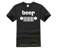 Jeep beer T-Shirt tshirt men  t shirts Short shirt Casual Cotton O-Neck Broadcloth