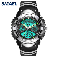 SMAEL Sport Wristwatches Swimming Children Fashion Casual LED Display Stopwatch Auto Date Hot0616 Man Digital Watches Alarm Kid