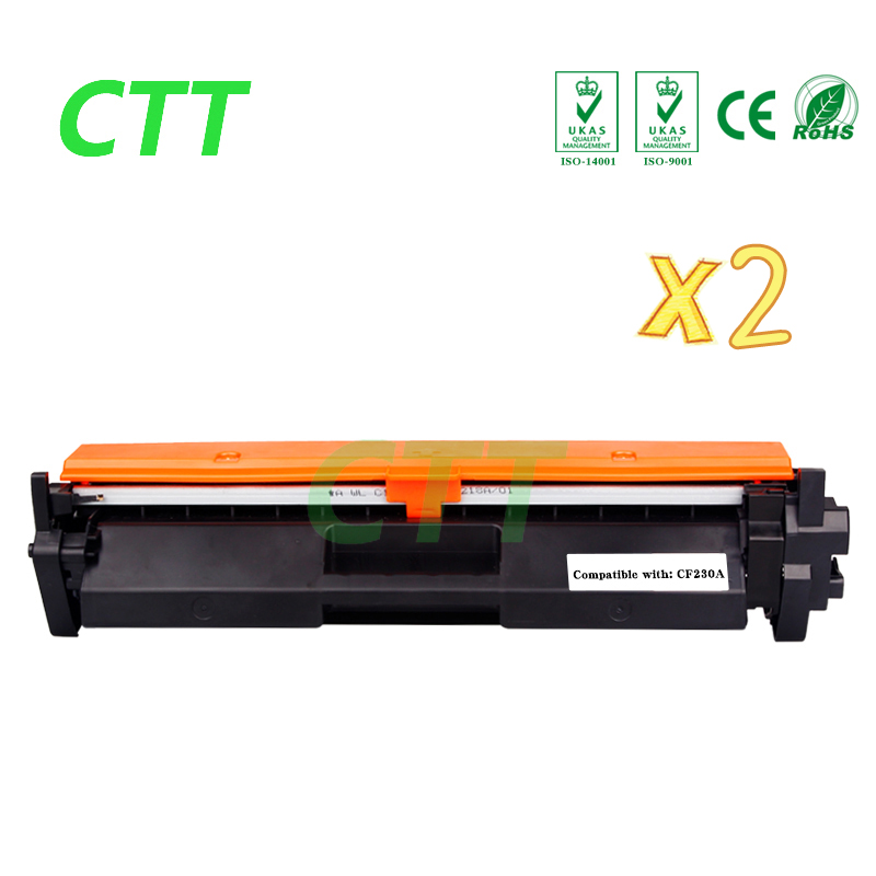 2PCS CF230A CF230 CF 230A compatible toner cartridge for HP LaserJet M203d M203dn M203dw MFP M227fdn M227fdw 1600pages NO CHIP impressora laserjet 2700 3000 rplacement for hp toner cartridge chip q7560a q7561a q7562a q7563a
