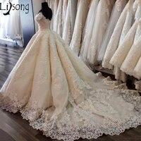 Романтический Ближний Восток Стиль свадебное платье бальные платья Саудовская Аравия Royal низ поезд с плеча индивидуальный заказ свадебное