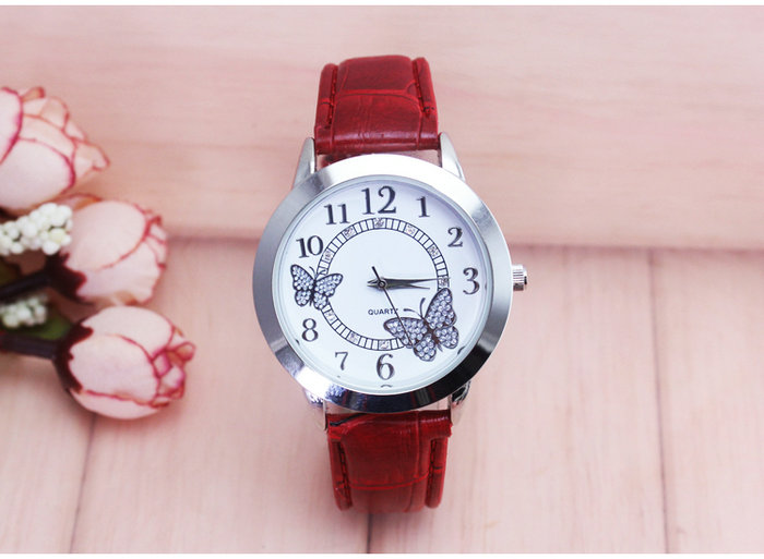 children's watches Kids Quartz watch student girls Quartz-watch Cute colorful butterfly waterproof