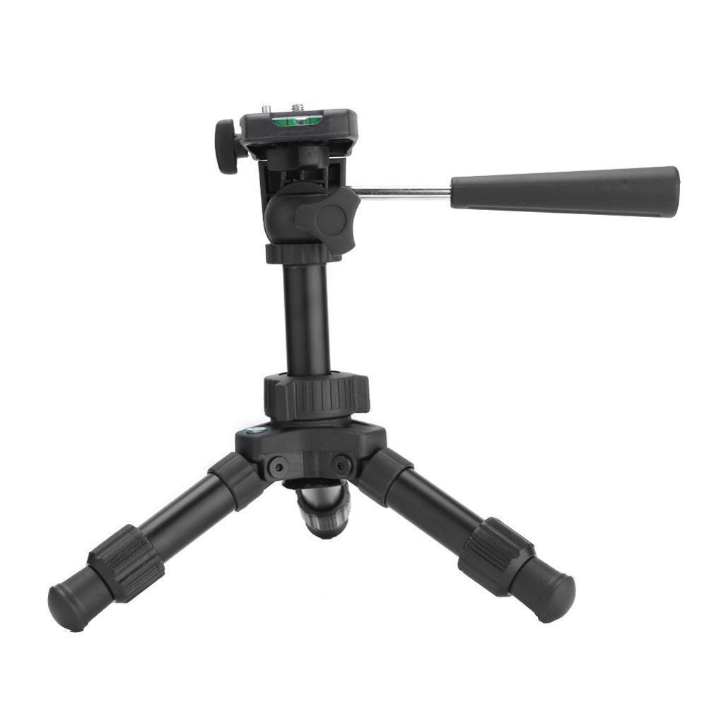 Image 4 - Mini Table Tripod Camera Aluminum Stable Tabletop Desktop Panoramic Portable With Three dimensional Tripods Ball Head for Canon-in Live Tripods from Consumer Electronics