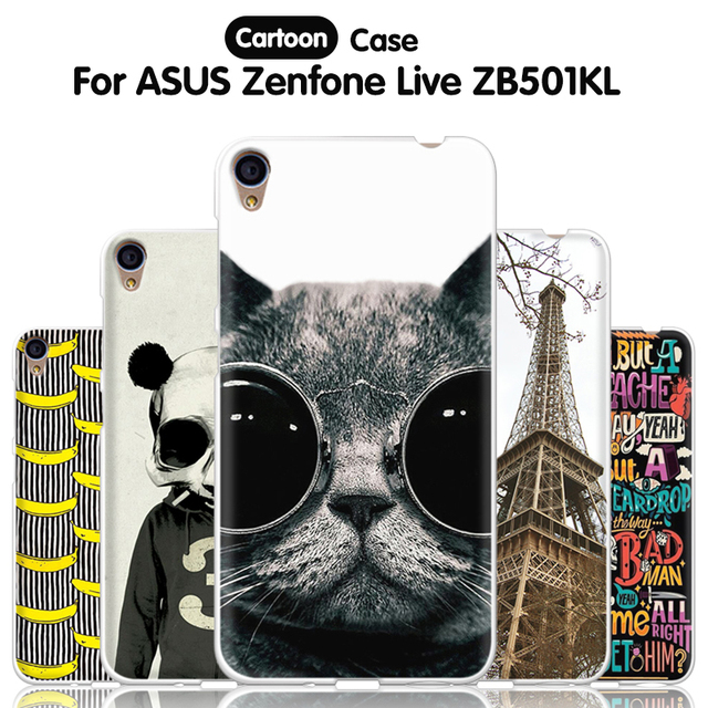 new concept 1697f b4824 US $1.14 9% OFF|JURCHEN Phone Case For ASUS Zenfone Live ZB501KL Case  Cartoon Silicone Soft TPU Back Cover For ASUS Zenfone Live ZB501KL Case  5