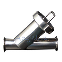 4 Stainless Steel 304 Sanitary Pipe Filter Inline Y Strainer Filter 100 Mesh