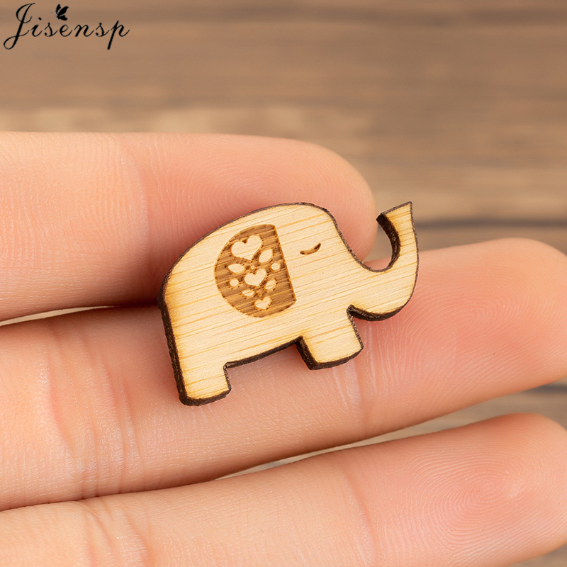 Happy Elephant Brooch Pins Chic Charm Exquisite Animal Metal Enamel Wood Pin Decoration Fashion Jewelry Gifts for Her