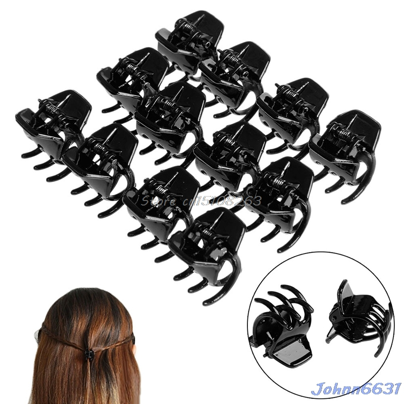 Free Shipping Girls Women Hair Accessory Styling Plastic Mini Clip Claw Clamp 12Pcs #Y207E# Hot Sale