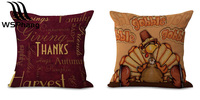 2pcs/set Give Thanks Thanksgiving Gifts Cotton Linen Throw Pillow Case Cover Home Office Decorative