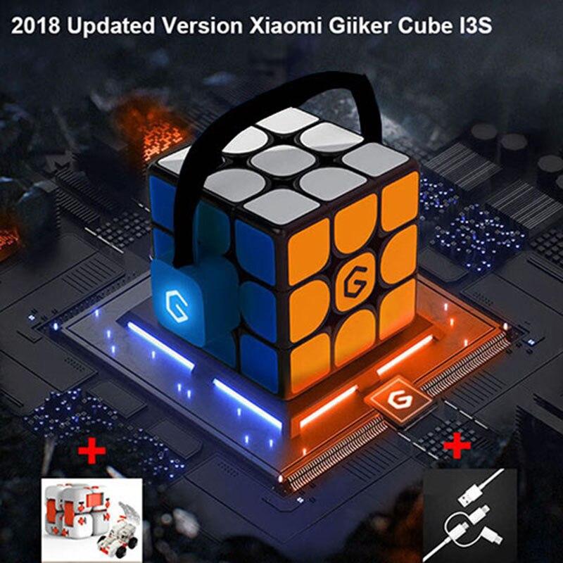 Versão de atualização 2019 Xiaomi Mijia Giiker i3s AI Inteligente Super Cubo Mágico Inteligente APP Bluetooth Sync Magnético Enigma Brinquedos