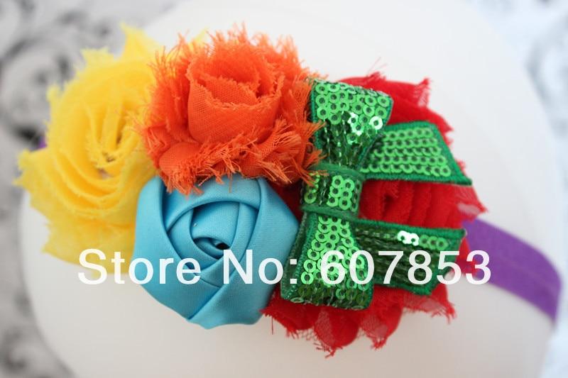 kids girl nylon flower headband (25)