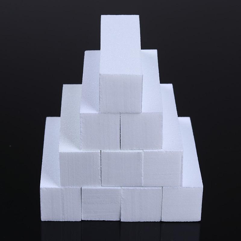 10 Pcs Nail Art File Set White Color Nail Buffers Sanding Grinding Block Sponge Form Pedicure Manicure Nail Art Tool Kit
