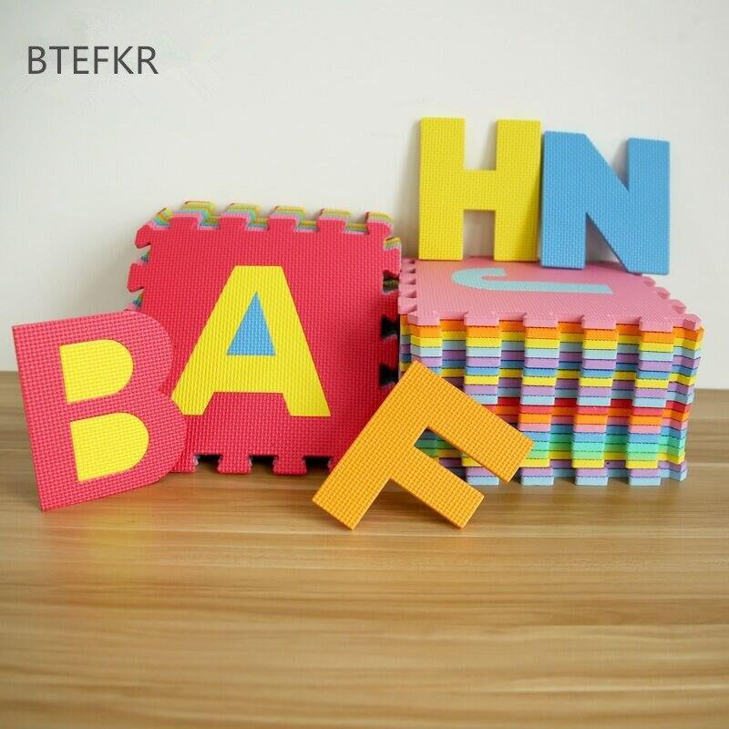 26 pièces/ensemble enfants tapis Puzzle bambin jouets Eva mousse bébé Gym tapis sol souple jouet éducatif enfant tapis tapis de développement