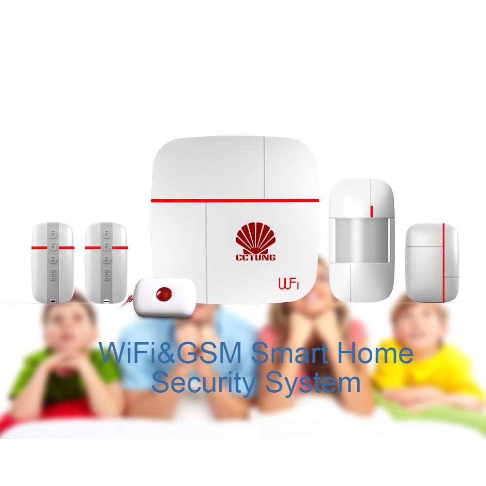 Ver UN Vcare Multi-fonction WIFI et GSM Double Smart Home Système D'alarme avec PIR Motion Porte/Fenêtre capteur Médical D'urgence Bouton