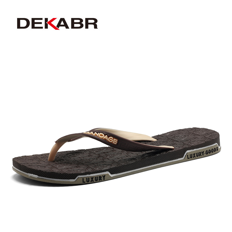 DEKABR Men Summer Slippers Beach Flip Flops Designer Fashion Comfortable Male Chaussures Zapatillas Masculinas