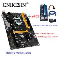CNKESIN TB250 BTC PRO 100 New In Box 6PCIE For Biostar TB250 BTC TB250 1151 DDR4
