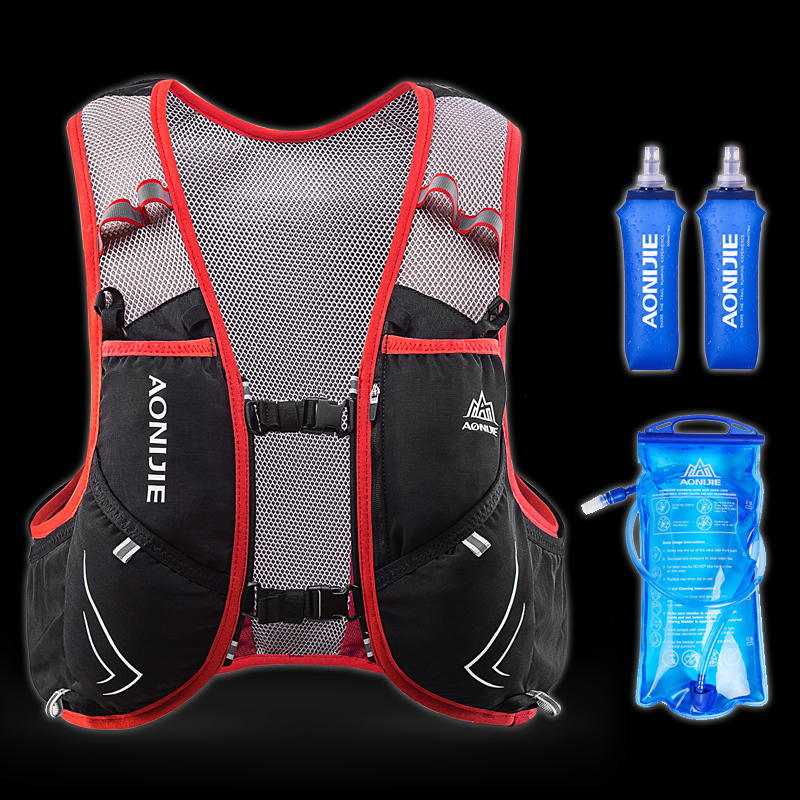 AONIJIE 5L Hydration Pack Backpack Lightweight Nylon Waterproof Deluxe Marathoner Running Race Hydration Vest for Men