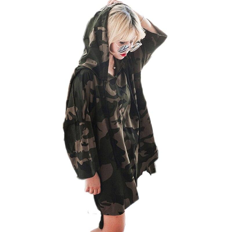 Plus Size 2017 Autumn Camouflage Hoodies Dress Tracksuit For Women Pullovers Hoody Sweatshirts Warm Feminino Winter Camisolas