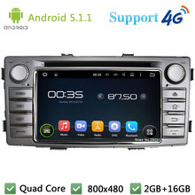 Quad Core 1Din Android 5.1.1 Car DVD Player Radio Stereo Screen RDS USB DAB+ BT FM 3G/4G WIFI GPS Map For TOYOTA Hilux 2012-2014