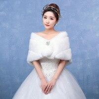 P033 New Fashion Bride Wedding Fur Clothes Winter Warm Woolen cloak thickening Faux Fur Shawl