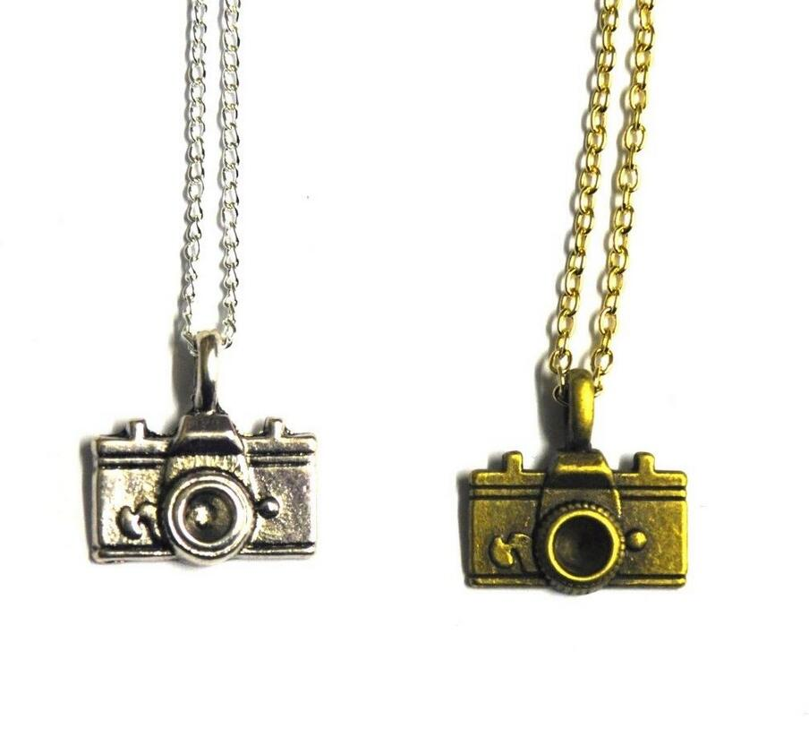 Vintage Silver Camera LOVE Angel Shoes Mother Holding Baby Cat Dog Necklace Pendants Charms Choker For Women Jewelry 10PCS H395