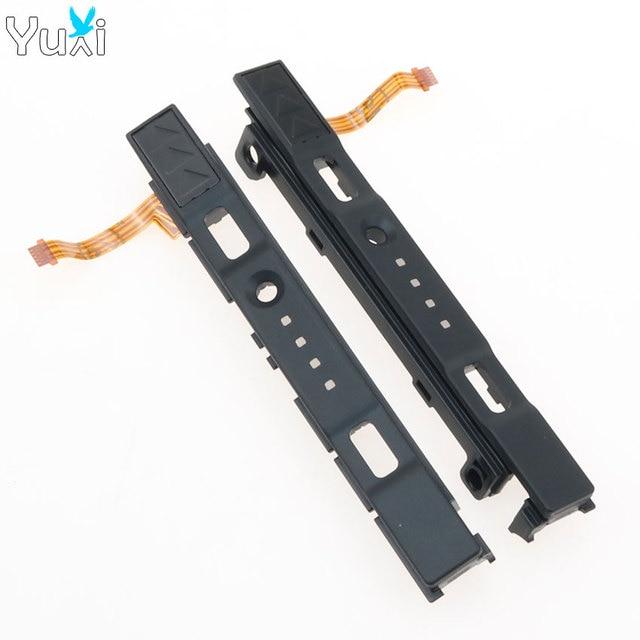 YuXi L R glissière Rail gauche droite curseurs pièces de rechange de chemin de fer pour interrupteur de commande NS Joy con contrôleur Con