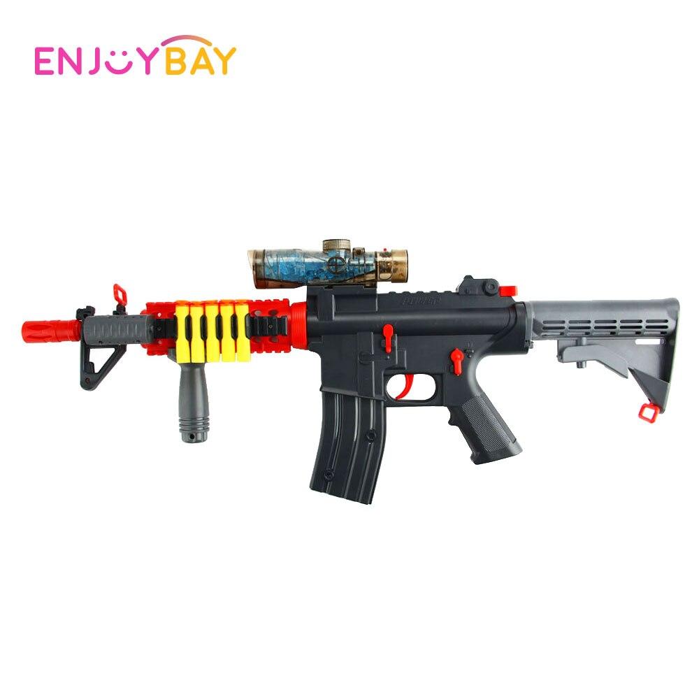 Jouet de pistolet à eau à balle molle électrique Enjoybay pistolet à eau en plein air pour enfants garçons/filles jouet de pistolet à balle en cristal d'eau Rechargeable