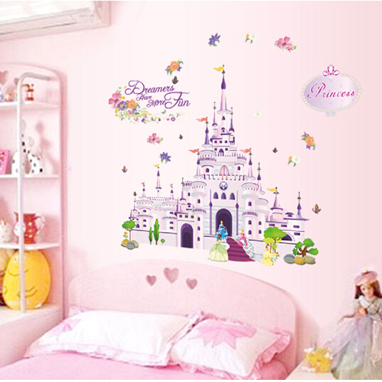 Princess Sleeping Beauty Fantasy Castle Removable Wall Sticker Baby S Nursery Room Art Mural Decal Diy Home Decor 100x85cm In Stickers From