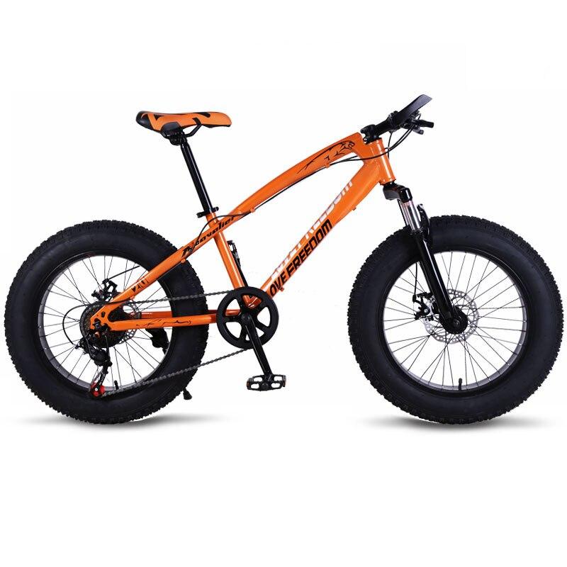 Vélo VTT 7/21 vitesse gros route neige vélos 20*4.0 avant et arrière mécanique frein à disque nouveau livraison gratuite