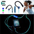 Colorful Fashion noodles EL glowing led earphone headphone With perfect sound qualit With Microphone For MP3 MP4 Smart phone