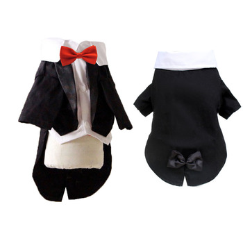 Male Dog Clothes Boy Dog Suit Tuxedo Coat Jacket Puppy Pet Wedding Dress Small Dog Chihuahua Costume Black Pet Party Apparel