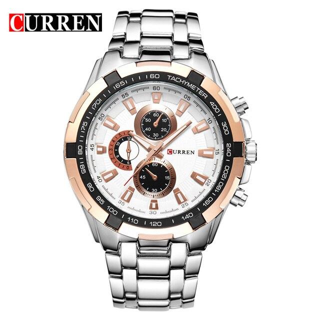שעון קלאסי רצועת מתכת לגברים