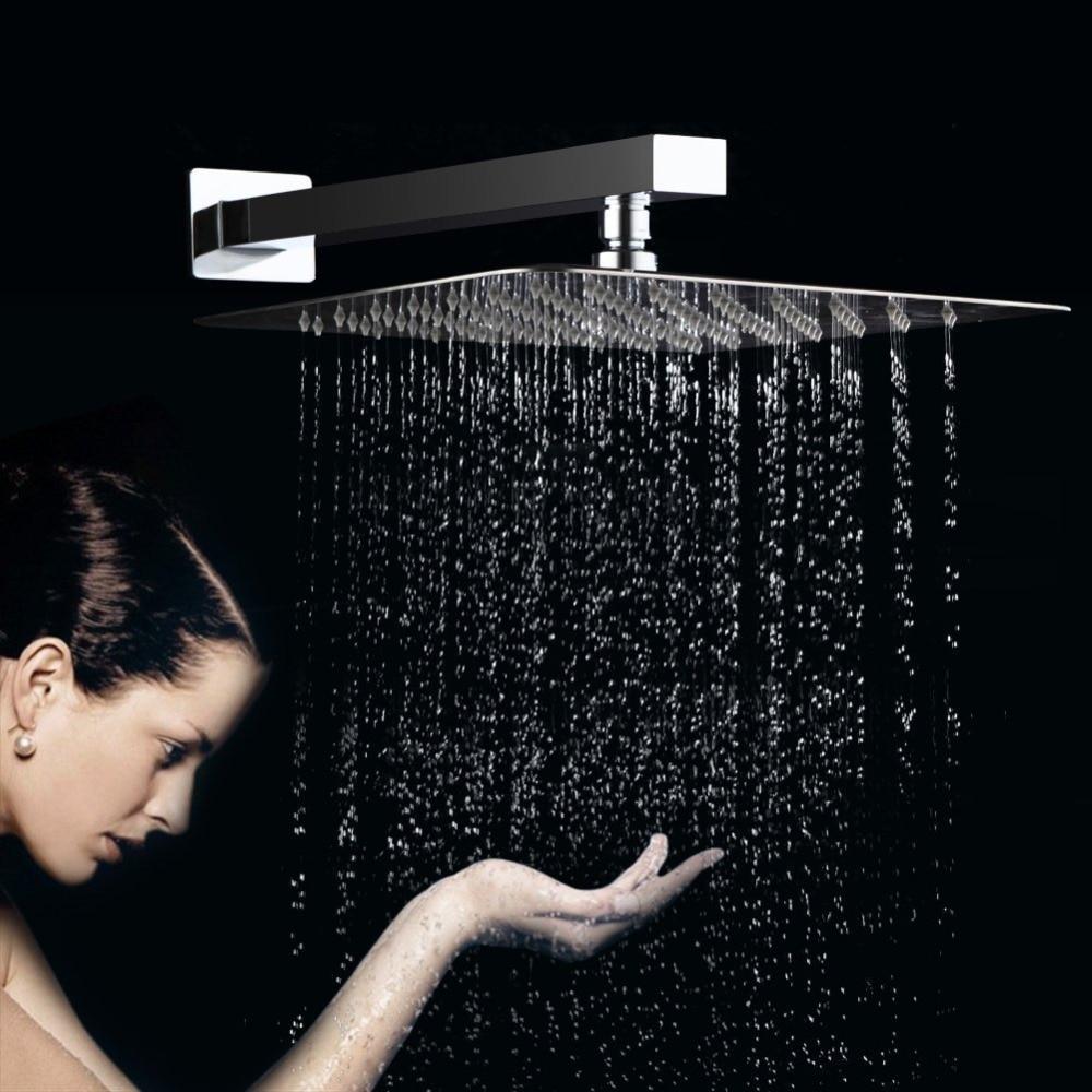 Online Shop Rain Fall Shower Head -12 Inch Large Square Rain Shower ...