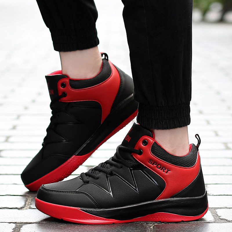 Star Men 's Basketball Shoes, Wear - Resistant Non - Slip Outdoor Sports Shoes and Velvet High To Help Basketball Shoes Boots iverson basketball shoes male adolescents spring low help iverson war boots light wear antiskid sports shoes